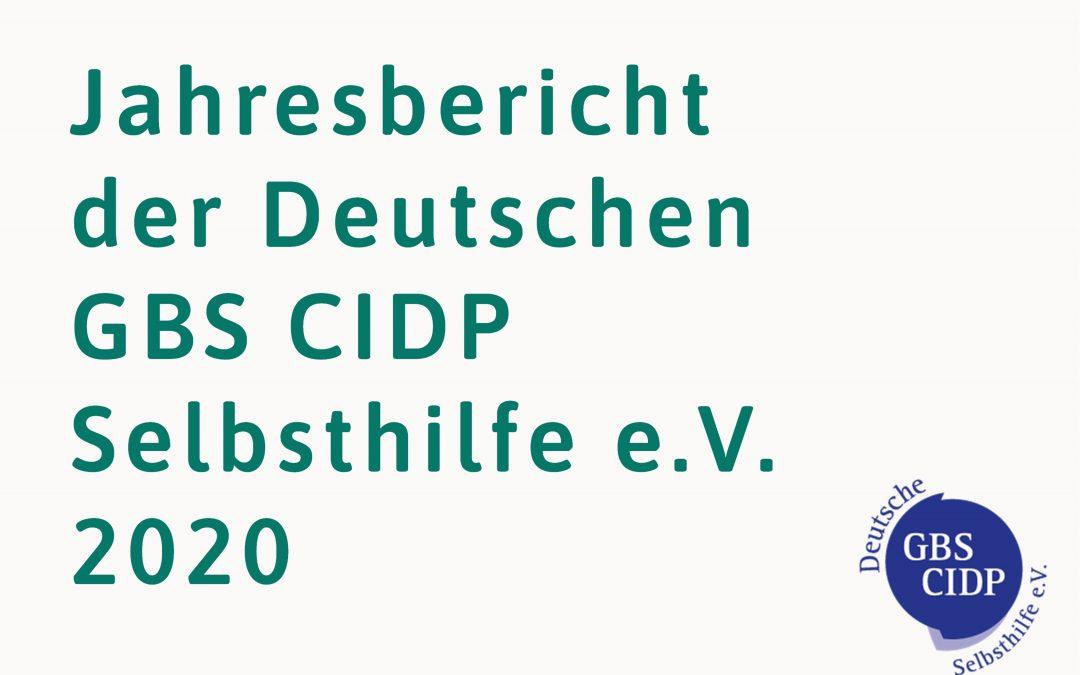 Jahresbericht der Deutschen GBS CIDP Selbsthilfe e.V. 2020